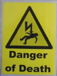 Danger of Death, Electrical Warning Labels